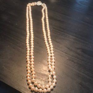 """Vintage Richelieu double strand 29"""" necklace"""